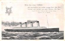 shi002238 - Titanic Ship Post Card Old Vintage Antique
