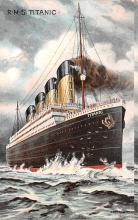 shi002240 - Titanic Ship Post Card Old Vintage Antique