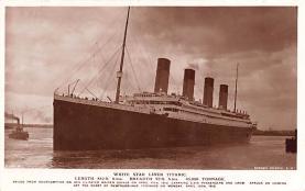 shi002242 - Titanic Ship Post Card Old Vintage Antique