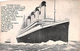 shi002246 - Titanic Ship Post Card Old Vintage Antique
