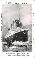 shi002248 - Titanic Ship Post Card Old Vintage Antique