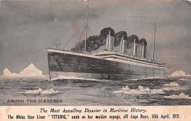 shi002250 - Titanic Ship Post Card Old Vintage Antique