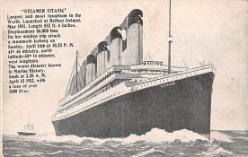 shi002252 - Titanic Ship Post Card Old Vintage Antique