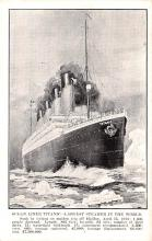 shi002264 - Titanic Ship Post Card Old Vintage Antique