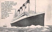 shi002268 - Titanic Ship Post Card Old Vintage Antique
