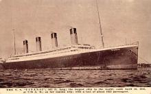 shi002278 - Titanic Ship Post Card Old Vintage Antique