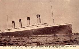 shi002278 - Titanic Ship Post Card Old Vintage Antique