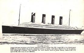 shi002282 - Titanic Ship Post Card Old Vintage Antique