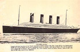shi002284 - Titanic Ship Post Card Old Vintage Antique