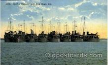 shi003219 - Pacific Torpedo Fleet, San Diego, CA, USA Military Ship, Ships, Postcard Postcards