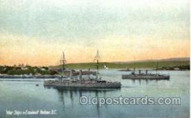 War Ships, Esquimalt Harbore, BC, Canada