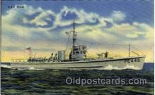 shi003269 - USS PC449 Military Ship, Ships, Postcard Postcards