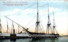 shi003272 - Old Ironside Military Ship, Ships, Postcard Postcards