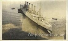 shi003274 - Flag Ship Milwakee Military Ship, Ships, Postcard Postcards
