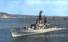 shi003334 - USS Halsey Military Ship, Ships, Postcard Postcards