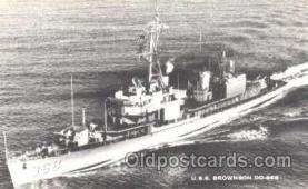 shi003337 - USS Brownson Military Ship, Ships, Postcard Postcards