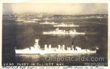 shi003343 - Fleet in Elliot Bay Military Ship, Ships, Postcard Postcards