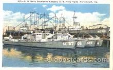 shi003344 - U.S. Navy Submarine Chasers Military Ship, Ships, Postcard Postcards