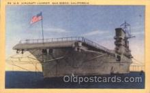 shi003378 - U.S. Aircraft carrier, san diego, california, USA Military Ship Ships Postcard Postcards