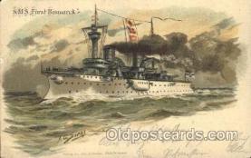 shi003385 - S.M.S Furst Bismarck Military Ship Ships Postcard Postcards