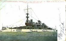 shi003395 - U.S. Battleship Indianna Navy, Military Ship, Ships Postcard Postcards
