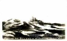 shi003409 - Fightinh the billows in an American Navy, Military Ship, Ships Postcard Postcards