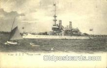 shi003419 - U.S.S. Massachusetts Navy, Military Ship, Ships Postcard Postcards