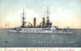 shi003449 - US Battleship, Kentucky Military Battleship Postcard Post Card Old Vintage Anitque