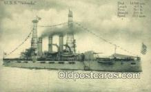 shi003452 - USS Nebraska Military Battleship Postcard Post Card Old Vintage Anitque