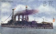 shi003453 - USS Nebraska Military Battleship Postcard Post Card Old Vintage Anitque