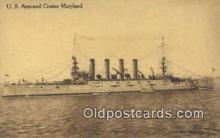 shi003456 - US Armored Cruiser, Maryland Military Battleship Postcard Post Card Old Vintage Anitque