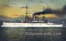 shi003475 - US Battleship, Illinois Military Battleship Postcard Post Card Old Vintage Anitque