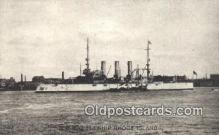 shi003483 - US Battleship, Rhode Island Military Battleship Postcard Post Card Old Vintage Anitque