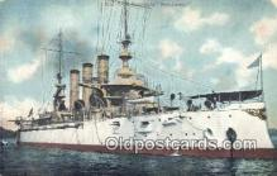shi003484 - US Battleship, New Jersey Military Battleship Postcard Post Card Old Vintage Anitque