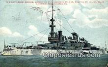 shi003490 - US Battleship, Indiana Military Battleship Postcard Post Card Old Vintage Anitque