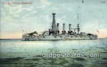 shi003492 - US Battleship, Nebraska Military Battleship Postcard Post Card Old Vintage Anitque