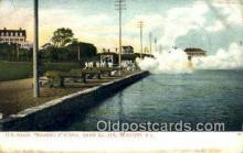 shi003495 - US Naval Training Station, Newport Military Battleship Postcard Post Card Old Vintage Anitque