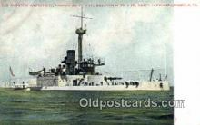shi003501 - US Monitor Amphitrite, Norfolk Military Battleship Postcard Post Card Old Vintage Anitque