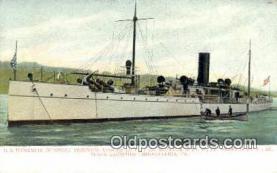 shi003507 - US Dynamite Gunboat, Vesuvius, Philadelphia Military Battleship Postcard Post Card Old Vintage Anitque