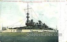 shi003511 - US Battleship Indiana Military Battleship Postcard Post Card Old Vintage Anitque
