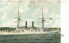 shi003512 - US Cruiser Boston Military Battleship Postcard Post Card Old Vintage Anitque