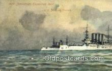 shi003515 - US Armored Cruisers Military Battleship Postcard Post Card Old Vintage Anitque