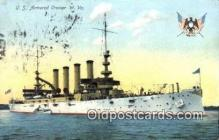 shi003522 - US Armored Cruiser, W. VA Military Battleship Postcard Post Card Old Vintage Anitque