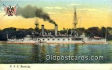 shi003525 - USS Kentucky Military Battleship Postcard Post Card Old Vintage Anitque