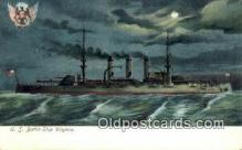 shi003526 - US Battle Ship Virginia Military Battleship Postcard Post Card Old Vintage Anitque