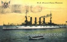 shi003534 - US Armored Cruiser Tennessee Military Battleship Postcard Post Card Old Vintage Anitque