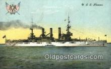 shi003536 - USS Kansas Military Battleship Postcard Post Card Old Vintage Anitque