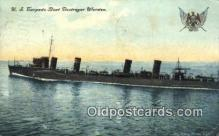 shi003542 - US Torpedo Boat Destroyer Worden Military Battleship Postcard Post Card Old Vintage Anitque