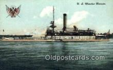 shi003544 - USS Monitor Nevada Military Battleship Postcard Post Card Old Vintage Anitque