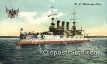 shi003547 - US Battleship Ohio Military Battleship Postcard Post Card Old Vintage Anitque